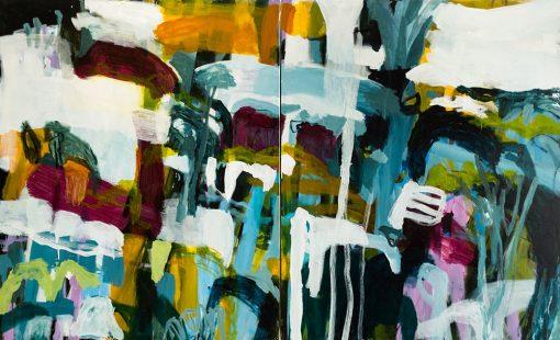 A joyful tumble - Abstract Art by Felicity O'Connor