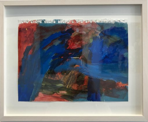 Red and Blue collide - Abstract Art by Felicity O'Connor