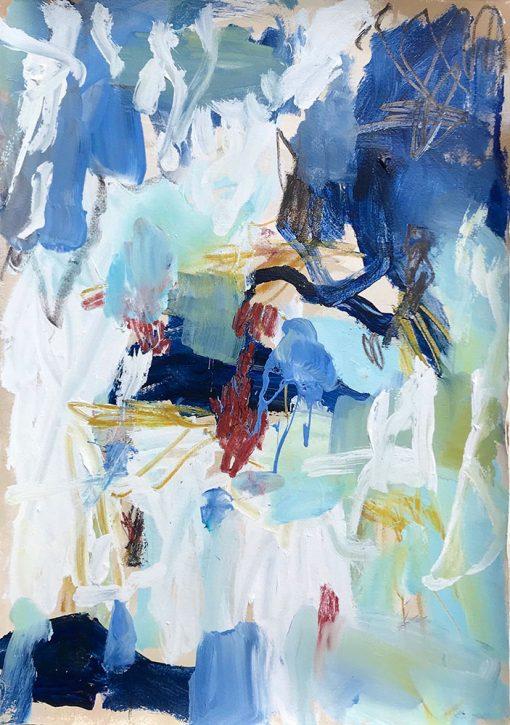 Ocean Faces - Abstract Art by Felicity O'Connor