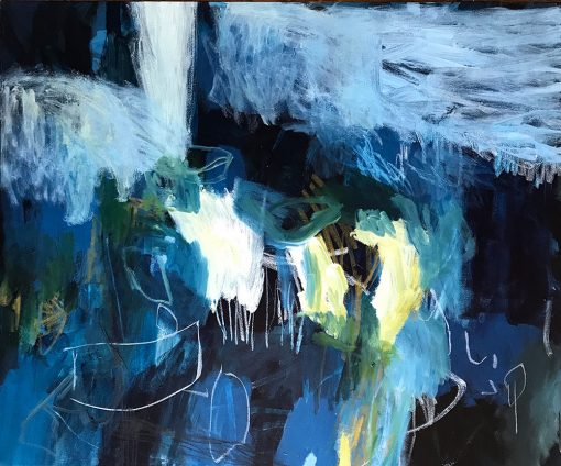 The boat and the song - Abstract Art by Felicity O'Connor