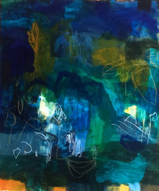The ocean has its silent caves - Abstract Art by Felicity O'Connor