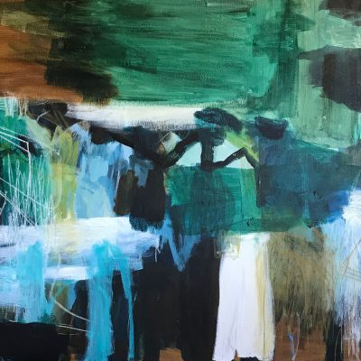 Abstract Art by Australian Artist Felicity O'Connor - Beyond the end of the Jetty