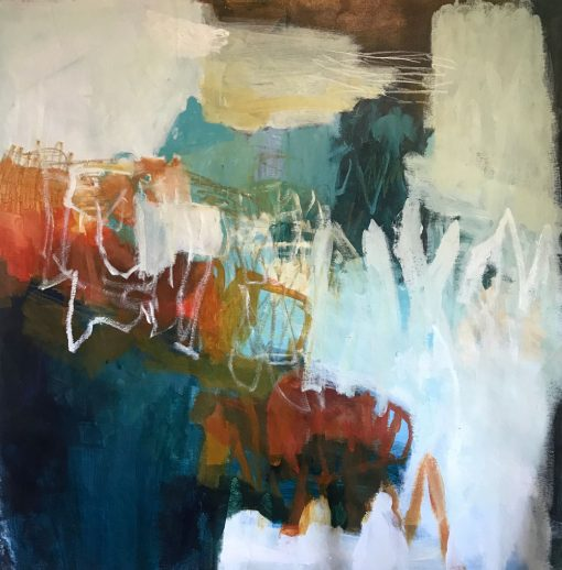 Abstract Art by Australian Artist Felicity O'Connor -Every sound will wash away