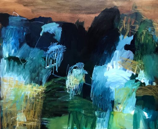 Abstract Art by Australian Artist Felicity O'Connor - Land form dance